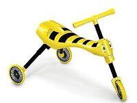 Kids Scuttlebug Yellow Bumblebee Push Bike