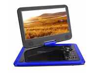 "[New Release] COOAU 10.5"" Portable DVD Player, 5 Hour Rechargeable Battery, 270° Swivel Screen,"