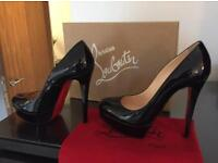 Christian Louboutin Black Heel Size 36.5 ( 3.5 UK / 4 UK ) Worn Once