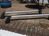 Toyota aluminium roof bars to fit Yaris 2006 - 11