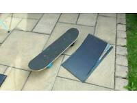 Skateboard and ramp excellent condition