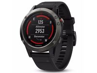 BRAND NEW Garmin Fenix 5 Slate Grey with Black Band GPS Multisport Watch