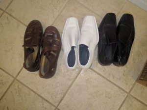 Men's dress shoes and men's Rockport Sandals, size 12