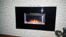 Wall mounted electric fire for sale