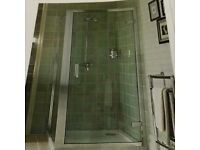 Atlas hinge bathstore shower enclosure and tray