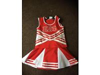 High School Musical cheerleader fancy dress girls costume outfit age 5 - 6
