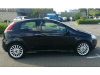 Black Fiat Grande Punto 1.4L 2007
