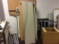Shaped Grey/Cream Desk Divider