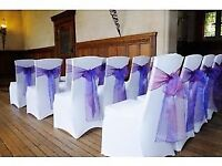 chair cover and sashe for hire.