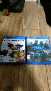 PS4 Overwatch and NFS
