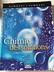 Livre chimie des solutions