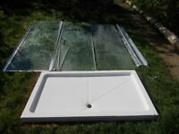 Double Shower Tray with Enclosure