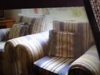 Comfy armchairs and stool for free collection