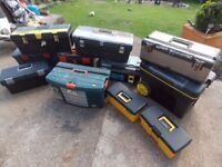 TOOL BOXES AND TOOL CHEST MANY MAKES JOB LOT £100