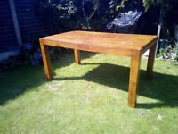 Robie hardwood garden table seats 6