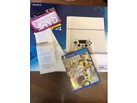 White PS4 500GB + FIFA 17 + warranty under year old with original purchase receipt from Game