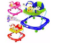 Baby Adjustable Height Walker First Steps Activity Musical Toy lightweight