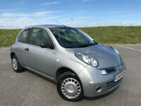 2009 59 LOW MILEAGE NISSAN MICRA 1.2 VISIA WITH FULL SERVICE HISTORY AND LONG MOT WITH NO ADVISORIES
