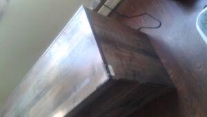 TV entertainment fireplace unit