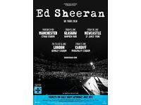 Ed Sheeran 2 x standing Sat 23rd June 18