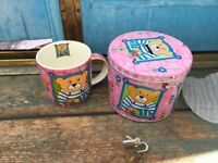 GIFTWARE! Children's tin money box with china mug inside. SPECIAL PRICE FOR BULK BUY