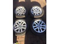 """Bmw 3 series e90 16"""" alloy wheels with run flat tyres"""