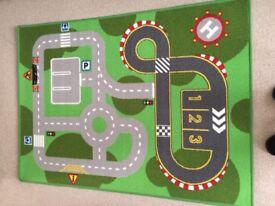 Play mat, road layout
