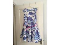 Oasis Willow Pattern Dress, Size 18