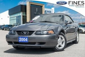 2004 Ford Mustang CONVERTIBLE, V6, LEATHER, ANNIV, LOW MILEAGE!