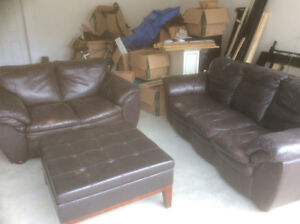 Couches and ottoman