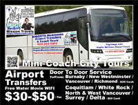 KNIGHTS Watchmen Lower Mainland Airport Transfer By Mini-Coaches