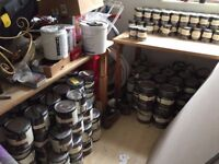 Lots of Farrow & Ball paint and stuff