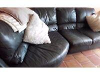 Black Leather Cormer Sofa