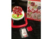 Red kite baby walker with musical activity tray