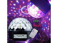 Remote Control Crystal Ball Magic LED Stage Light MP3 DJ Club Pub Disco Party Wedding