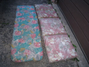 2 Long Cushions for Patio Lounges for $25 and $20
