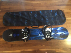 """Hardly used 54"""" snowboard with brand new bindings"""