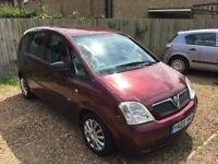 2005 Vauxhall Meriva 1.6i - Low Mileage - MOT April 2018 - Excellent - Fold Flat Rear Seats!
