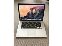 "Apple MacBook Pro 2015 15"" 2.8ghz CPU 16gb RAM 1tb SSD in excellent condition with box"