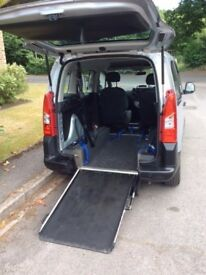Peugeot Partner Teepee Disability Wheelchair/buggy access. 1.6litre 2009
