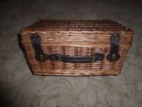 Wicker Picnic Basket in excellent condition - hardly used.