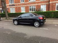 Good Runner Peugeot 206 CC Sport Black and Red Leather Interior