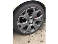 Vauxhall alloy wheels 18ich snowflakes