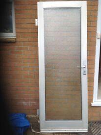 Used external Aluminium double glazed door...