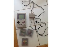 Old school Nintendo Game Boy and games