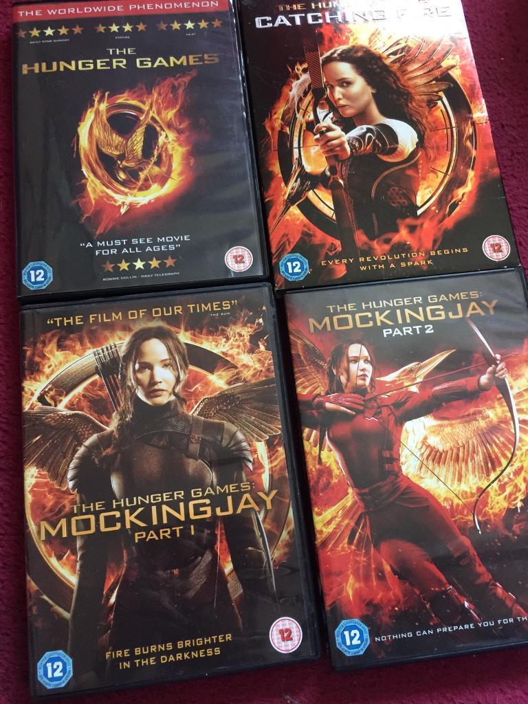 Hunger Games Trilogy DVDS
