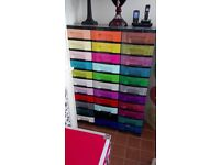 Lovely coloured 33 drawer storage unit