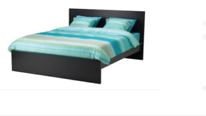 Ikea queen bed with slates
