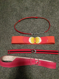 Lots of belts. Excellent condition.
