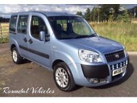 2008 58 Fiat Doblo 1.4 Dynamic wheelchair access, 3 seat with access ramp. serviced and mot'd